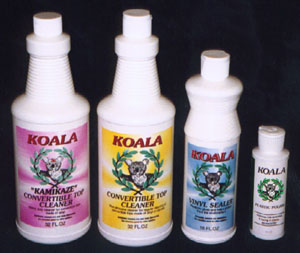Koala Products. Koala Plastic Polish, Koala Cleaner, Koala Kamikaze, and Koala Sealer